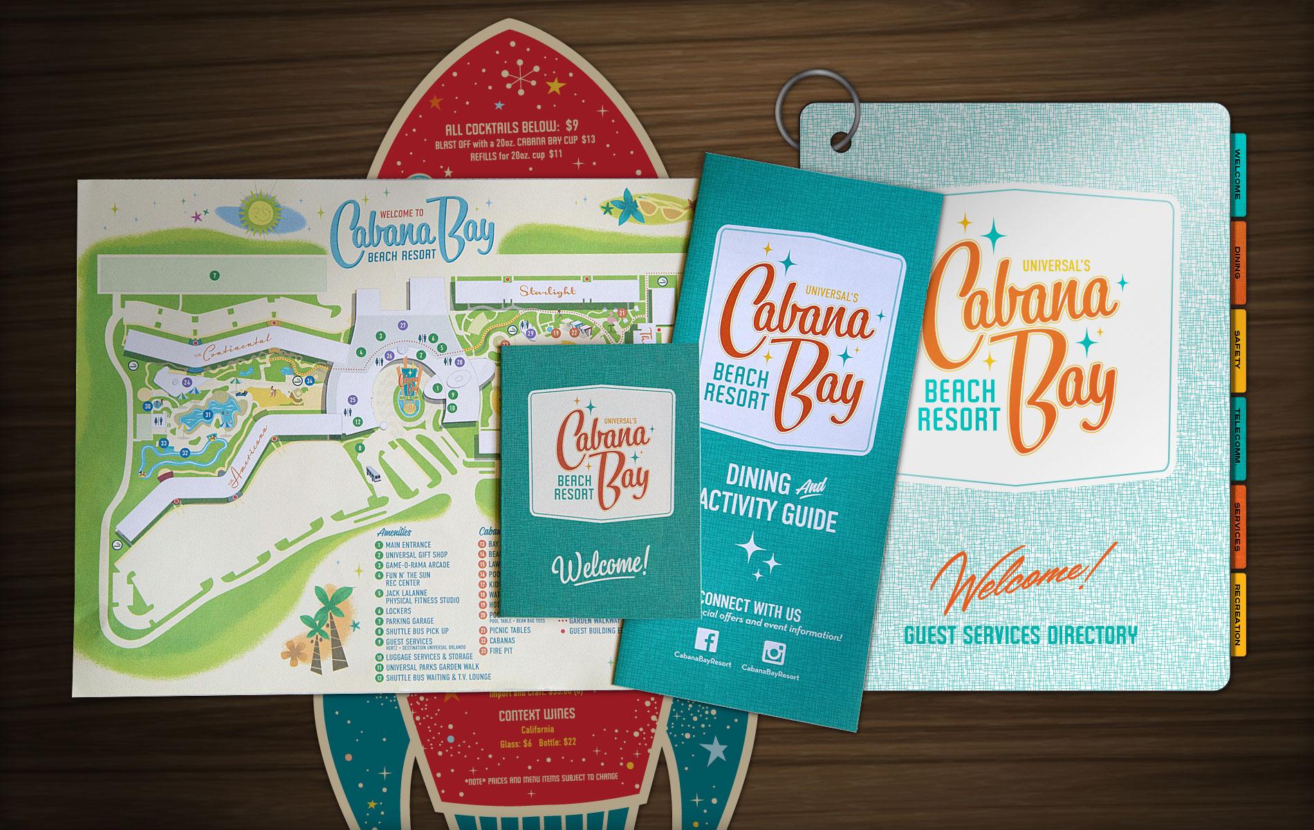 Cabana Bay Hotel Map