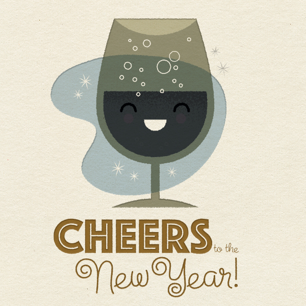 Cheers to the New Year from Jayro Design & Illustration